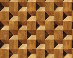 Papel de Parede Madeira Mosaico