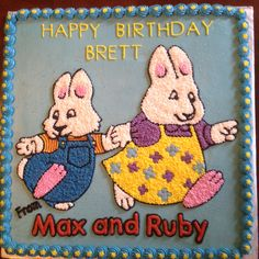 Cute Max and Ruby cake for a little girl.