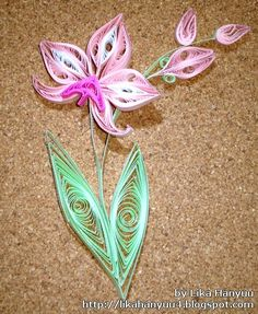 quilled orchids | Marcadores: Orquídea (Orchid) , Quilling (Paper Quilling) , Trabalhos ...