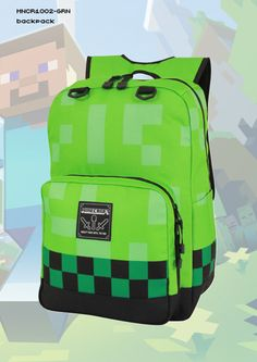 17dde96570 Minecraft Creeper bookbag Affiliate Collective Minecraft Backpack