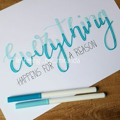 Calligraphy Quotes Doodles, Brush Lettering Quotes, How To Write Calligraphy, Hand Lettering Quotes, Creative Lettering, Lettering Styles, Lettering Ideas, Calligraphy Fonts, Script Fonts
