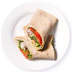 Spicy Turkey Wrap, perfect for thanksgiving turkey leftovers #turkeyrecipe #thanksgiving #turkeywrap