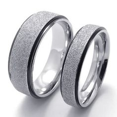 BESTSELLER! KONOV Jewelry Classic Lover's Mens Ladies Stainless Steel Promise Ring Couples Engagement Wedding Bands, Color Dark Grey S... $6.99