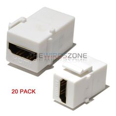 LOGICO 100 Pack Inline Coupler Keystone Jack RJ45 Female to Female Cat6//Cat5e White