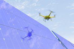 ispezioni pannelli solari con drone