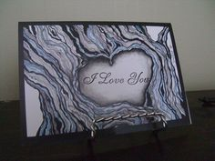 Black and Grey Tree Heart Knot I Love You by DreanasDragonflyPie, $4.00