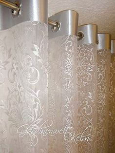 Discover thousands of images about Metallic No Sew Curtains, Home Curtains, Grommet Curtains, Hanging Curtains, Curtains With Blinds, Kitchen Curtains, Window Curtains, Curtain Styles, Curtain Designs