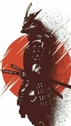 Alphonse (warrior of the riseing sun) - Samurai Ninja Kunst, Arte Ninja, Ninja Art, Anime Kunst, Anime Art, Fantasy Kunst, Fantasy Art, Image Japon, Samourai Tattoo