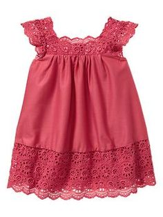 Circle eyelet dress | Gap    so cute for my future baby girl with a little pair of brown cowboy boots