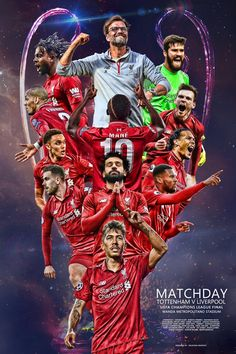 "Liverpool v Tottenham champions league final ""It's 🤩… "" Liverpool Team, Liverpool Uefa Champions League, Liverpool Tattoo, Liverpool Fc Wallpaper, Liverpool Wallpapers, Juergen Klopp, This Is Anfield, Football Design, Football Tops"