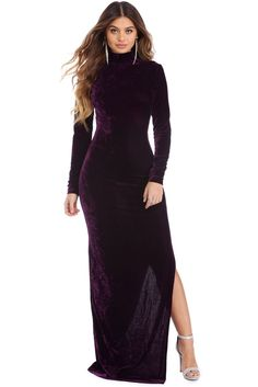 Lola Eggplant Velvet Groove Dress | WindsorCloud