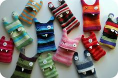 Chez Beeper Bebe: In My Shop: Stripey iPod Monster Cozies