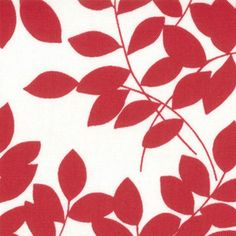 Half Moon Moda Modern Leaves Red in for Moda by SistersandQuilters, $9.45