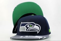 4237064d3 NFL Seattle Seahawks New Era 9FIFTY Snapback Hats Navy Green 078
