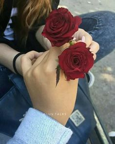 Tips on Where to Buy Valentine's Day Flowers Flowers For You, Love Flowers, Romantic Flowers, Romantic Couples, Cute Couples, Beautiful Roses, Beautiful Hands, Rose In Hand, Love Rose Flower