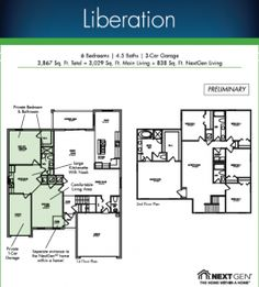 Lennar 39 s next gen the home within a home liberation for Next gen homes floor plans