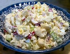 UNPOTATO SALAD - Linda's Low Carb Menus & Recipes.  Keto side recipe.