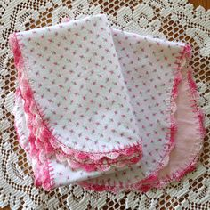 I think I've been making these baby blankets for hundreds of years, and yet I don't get tired of them. New moms always seem to appreciate t...