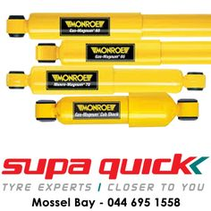 Visit Supa Quick Mosselbaai for your Monroe Shock Absorbers. Take control over your vehicle today. #monroeshocks #supaquick
