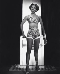 Dorothy Dandridge in a beautiful swimsuit, captured by photographer Ted Allan, circa 1949.