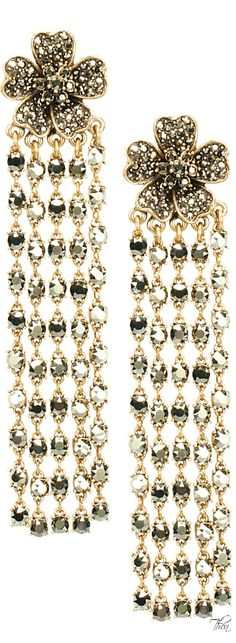 Oscar de la Renta FW 2014 The House of Beccaria Girls Jewelry, Bling Jewelry, Jewelry Box, Other Accessories, Jewelry Accessories, Patsy Stone, Chandelier Earrings, Drop Earrings, Glamour