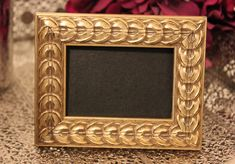 Set of 10 Vintage Style GOLD PICTURE FRAMES Gold Chalkboard or Table Number Frame Photo Ornate Photo Wedding Bronze Rustic Gatsby Champagne on Etsy, $80.00