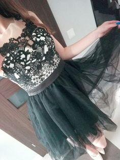 Sukienka z koronką roz S