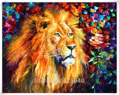 Aliexpress.com : Buy Lion  Art Pictures Palette Knife Home Decoration Oil painting Wall Pictures for living room Home Decor paints Wall art paint from Reliable picture artist painting suppliers on Eazilife Oil Painting  | Alibaba Group