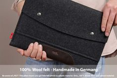 13inch MacBook Pro Retina sleeve, case, cover, 100% wool felt, vegetable tanned leather Hampshire LTS-ADB-PRO13R