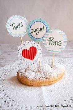 Cupcake topper per un Papà speciale!