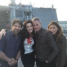 I'm so excited for season three!! #thelastship Eric Dane, Bren Foster, and Bridget Reagan