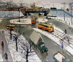 HENRIJS KLēBAHS | Latvian | Riga 1928 - 1998. View Through the Window, 1962