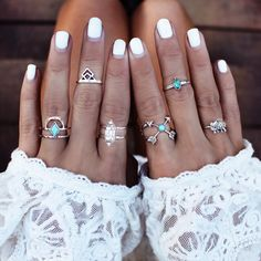 GypsyLovinLight: Rings Loving this trend right now. I want to get some midi #rings! Stackable #jewelery (rings, necklaces, bracelets) looks so cool to me!