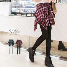 Buy 'PUFII – Inset Plaid Skirt Leggings' with Free International Shipping at YesStyle.com. Browse and shop for thousands of Asian fashion items from Taiwan and more!