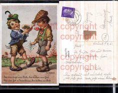 Künstler K Fr. Bertram Kinder Sänger Spruch Humor Nr. 460638 - oldthing…