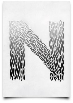 """N""    Type Scan Alphabet by Tony Ziebetzki (via Behance via @Darren Himebrook Booth)"