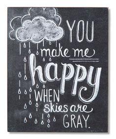 Love this 'Make Me Happy' Chalk Sign on #zulily! #zulilyfinds