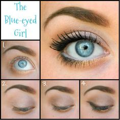 Check out my latest makeup look for us blue-eyed gals! Even though the neutral tones in this look would really look great on any eye color, it truly lets blues shine! Click through or check out my latest post at: Makeup-Bakeup.com