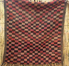 Worn Vintage Boujaad Boujad Wool Rug Good Condition Though 108 x 95cm  3ft7 x 3ft2