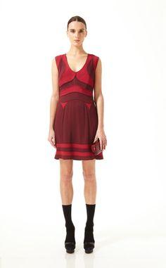 Red/plum dress by DVF.