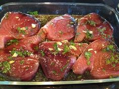 Marinating tuna steaks helps to keep them moist. Plus, it adds a nice extra bit of flavor. The other thing to remember