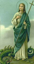 St. Martha She was witness to Jesus' resurrection of her brother, Lazarus
