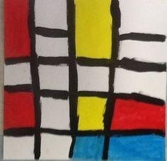 "Olivia15401's art on Artsonia 1st Grade - My Primary Colors from exhibit ""Painting like Piet Mondrain"""