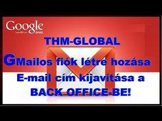 THW-GLOBAL Gmail fiók létre hozása,és kijavítása a BACK OFFICE-ben.