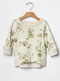 GAP Toddler Girls Floral hi-lo sweatshirt