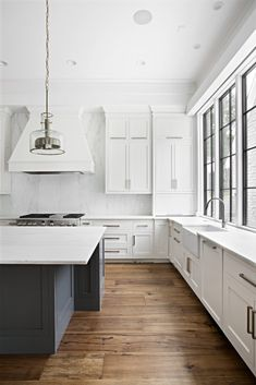 Hardwood flooring is one of the forever components of a home. The living planks bring the beauty of nature indoors and help tell the story behind the room's design. The heritage and provenanc… Hardwood Floors In Kitchen, Hardwood Floor Colors, Grey Wood Floors, Light Hardwood Floors, Walnut Floors, Wood Floor Kitchen, Kitchen Flooring, Dark Hardwood, Hickory Flooring