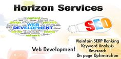 Horizon infosolutions, we provide web design services and web development services for all types of business.