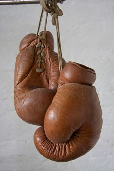1930s german boxing gloves by DEHA | From a unique collection of antique and modern decorative objects at http://www.1stdibs.com/furniture/more-furniture-collectibles/decorative-objects/