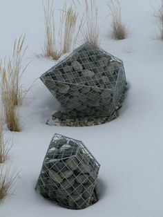 Gabions by Natalie Clark (I don't know what they are but they're interesting)