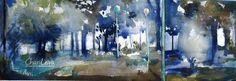 Día Internacional de la Acuarela (Alameda de Jaén) 52x18 cm Watercolor -  Aquarelle